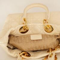 Cream Lady Dior Soft bag Angle9