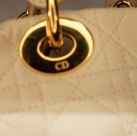 Cream Lady Dior Soft bag Angle10