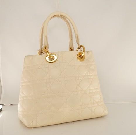 Cream Lady Dior Soft bag