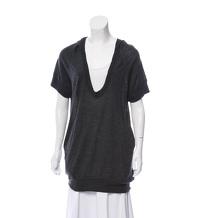 Alexander Wang Hooded Sweater Tunic, XS