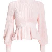 BRAND NEW WITH TAGS - Zimmermann peplum sweater Angle1