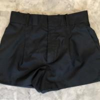 High waist CHLOE navy silk shorts