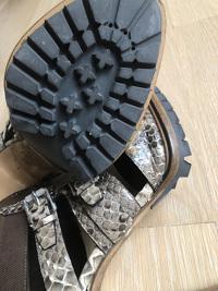 Snake skin Zip back Belstaff Heels Angle4