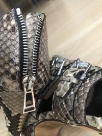 Snake skin Zip back Belstaff Heels Angle5
