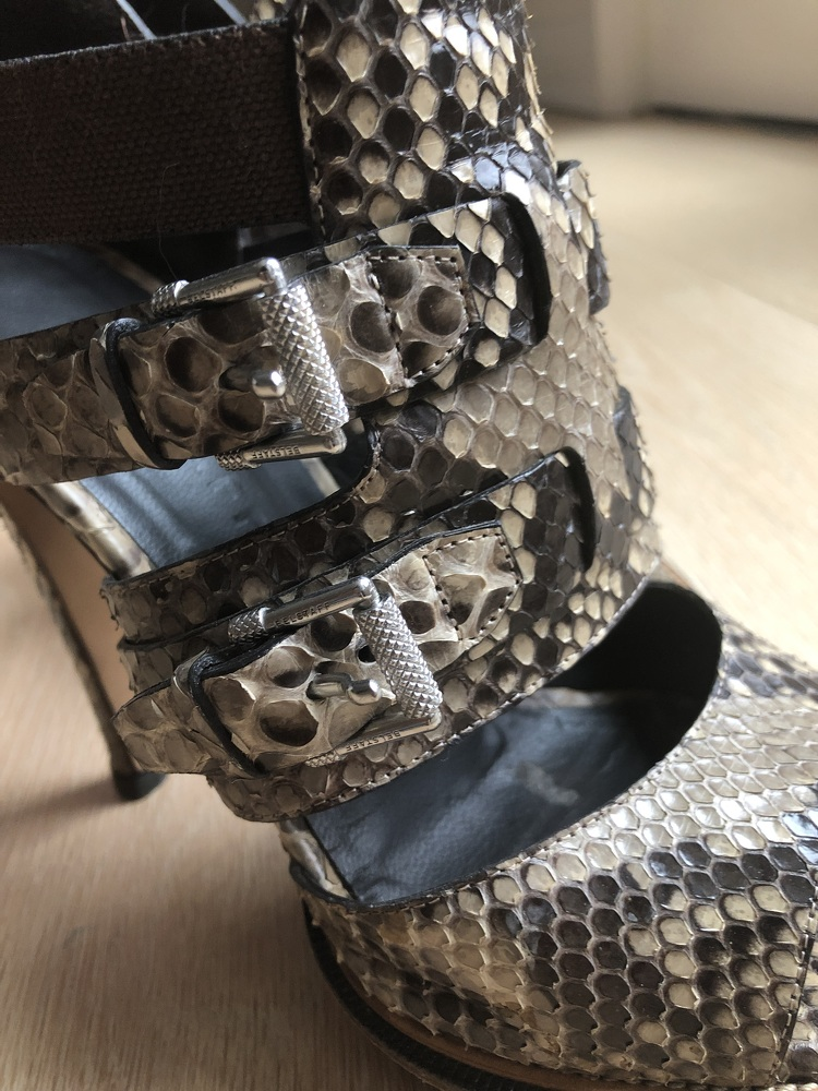 Snake skin Zip back Belstaff Heels
