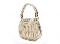 Miu Miu Miu miu bag new Handbags Leather Metallic Angle2