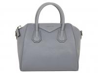 Givenchy Antigona bag Handbags Leather Grey Angle1
