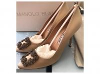 Manolo Blahnik 2020 Heels Silk Cream Angle3