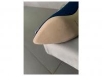 Manolo Blahnik Satin Pointed-Toe Pumps Heels Silk  Angle3