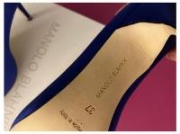 Manolo Blahnik Satin Pointed-Toe Pumps Heels Silk  Angle5
