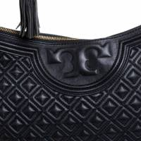 Tory Burch Fleming  large leather black Angle7