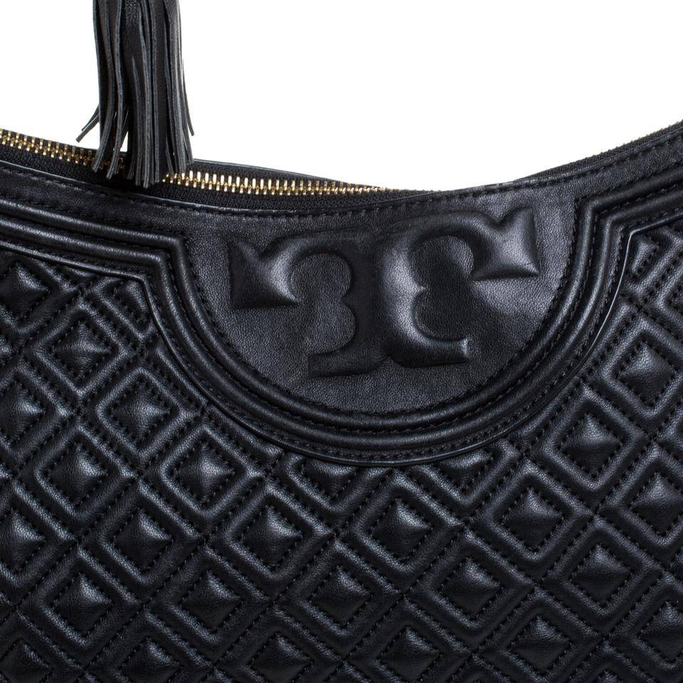 Tory Burch Fleming  large leather black