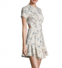 Zimmerman Floral Cocktail Paradiso open back dress