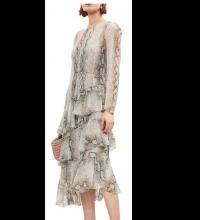 Zimmerman Python Maxi Chiffon Dress