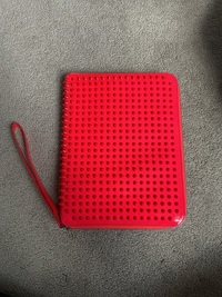 Christian Louboutin Pink Spiked Clutch/iPad Holder Angle1
