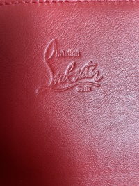Christian Louboutin Pink Spiked Clutch/iPad Holder Angle3
