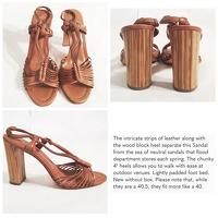 ELIE TAHARI sandals wooden block heels