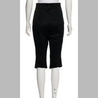VERSACE blk satin high rise cropped pants