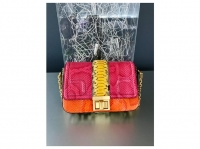 MCM Snakeskin shoulder bag with gold chain Angle3