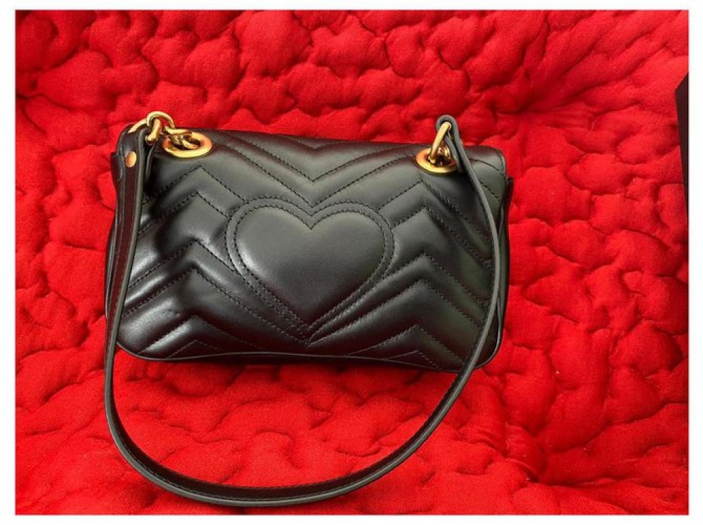 Gucci Marmont with structured flap
