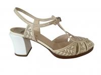 Fendi Sandals Sandals Leather Eggshell