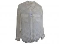 Very elegant silk shirt with star pattern, contras