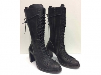 Ann Demeulemeester Superb Boots dark brown laces Angle3