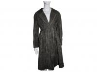 Jute coat by Alberta Ferretti. The coat is artific