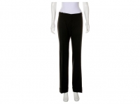 Black Balenciaga mid-rise wool pants with dual wel