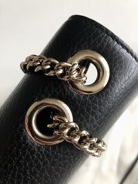 Interlocking Calfskin Shoulder Bag Angle4