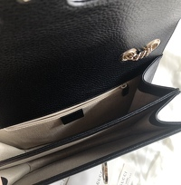 Interlocking Calfskin Shoulder Bag Angle6