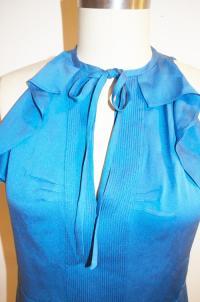 DVF Berit ruffled blouse sz 4 Angle2