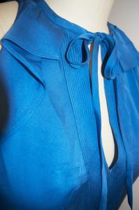 DVF Berit ruffled blouse sz 4 Angle3