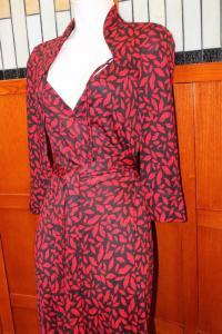 DVF Gildred Sleeve Wrap Dress-Diane von Furstenber Angle3