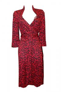 DVF Gildred Sleeve Wrap Dress-Diane von Furstenber