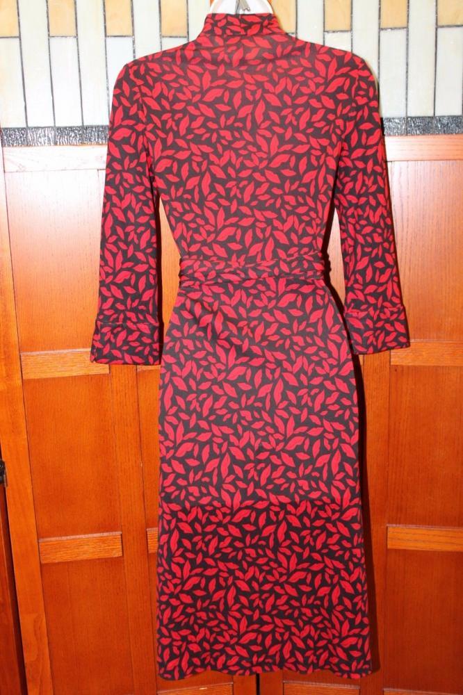 DVF Gildred Sleeve Wrap Dress-Diane von Furstenber