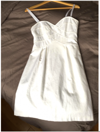White Cocktail Dress With Removable Straps