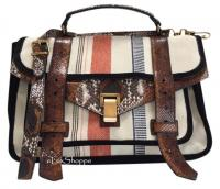 PROENZA SCHOULER Ps1 Medium Python Striped Creme C