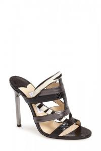 Jimmy Choo 'Vanisa' Sandal Black Leather