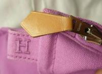 Hermes Purple Zip Clutch  Angle3