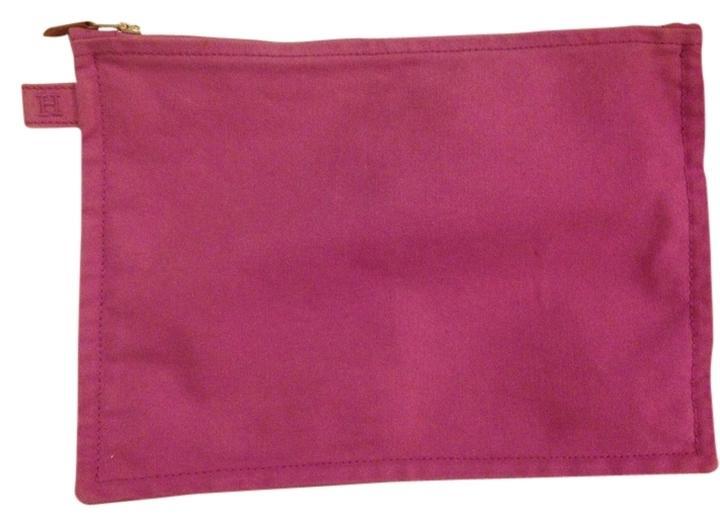 Hermes Purple Zip Clutch