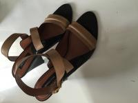 Derek Lam Beige Leather Taper Heels Angle3