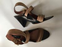 Derek Lam Beige Leather Taper Heels Angle5
