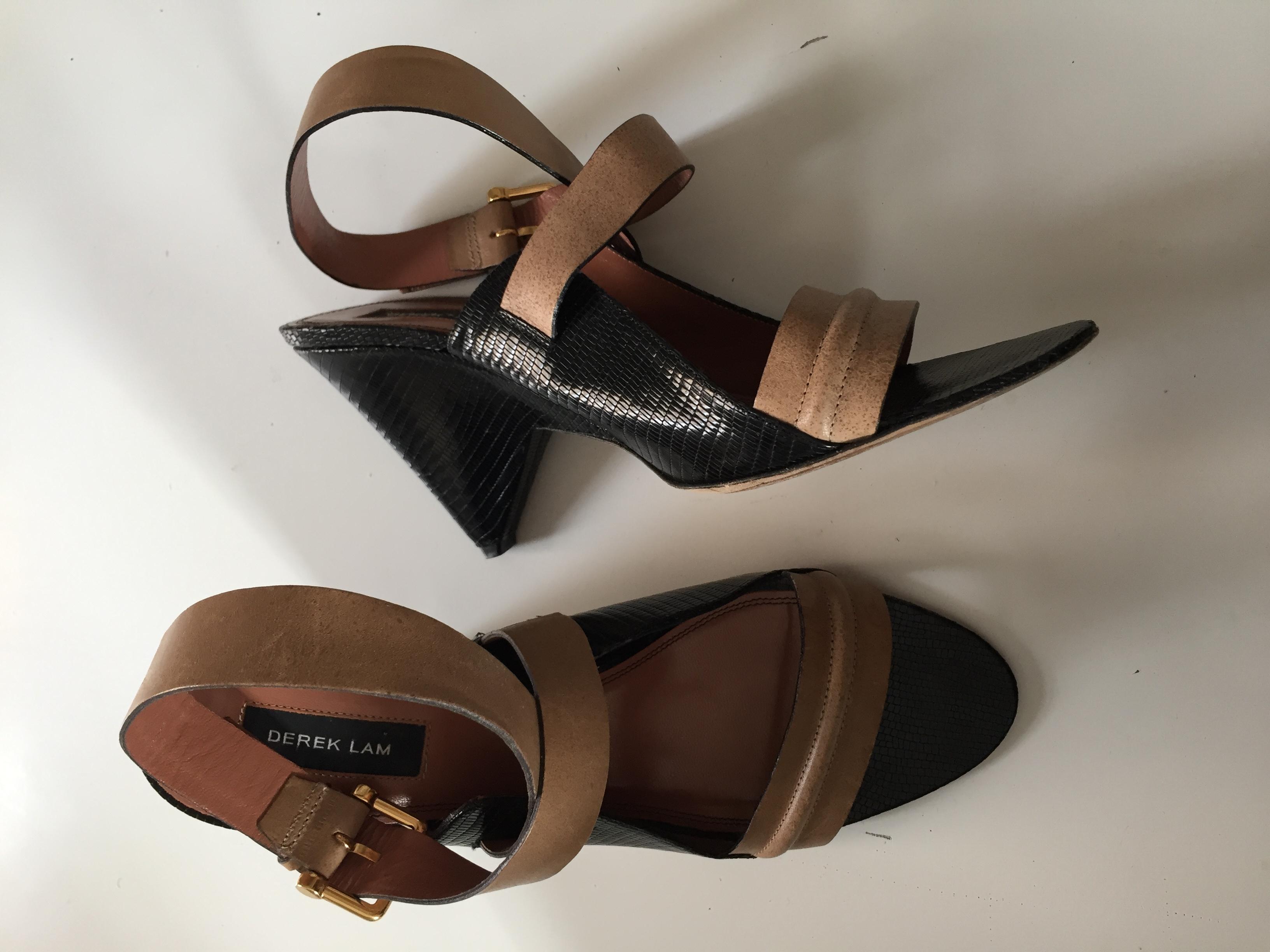 Derek Lam Beige Leather Taper Heels