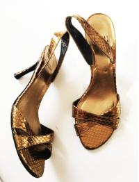 Stuart Weitzman Gold Leather Sandals