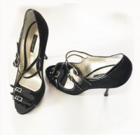 Suede Dolce & Gabanna Mary Jane Sandals -  Angle4
