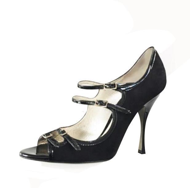 Suede Dolce & Gabanna Mary Jane Sandals -
