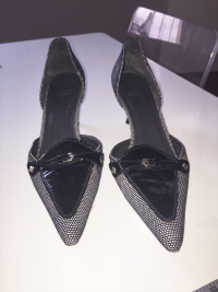Stuart Weitzman Black and White Heel
