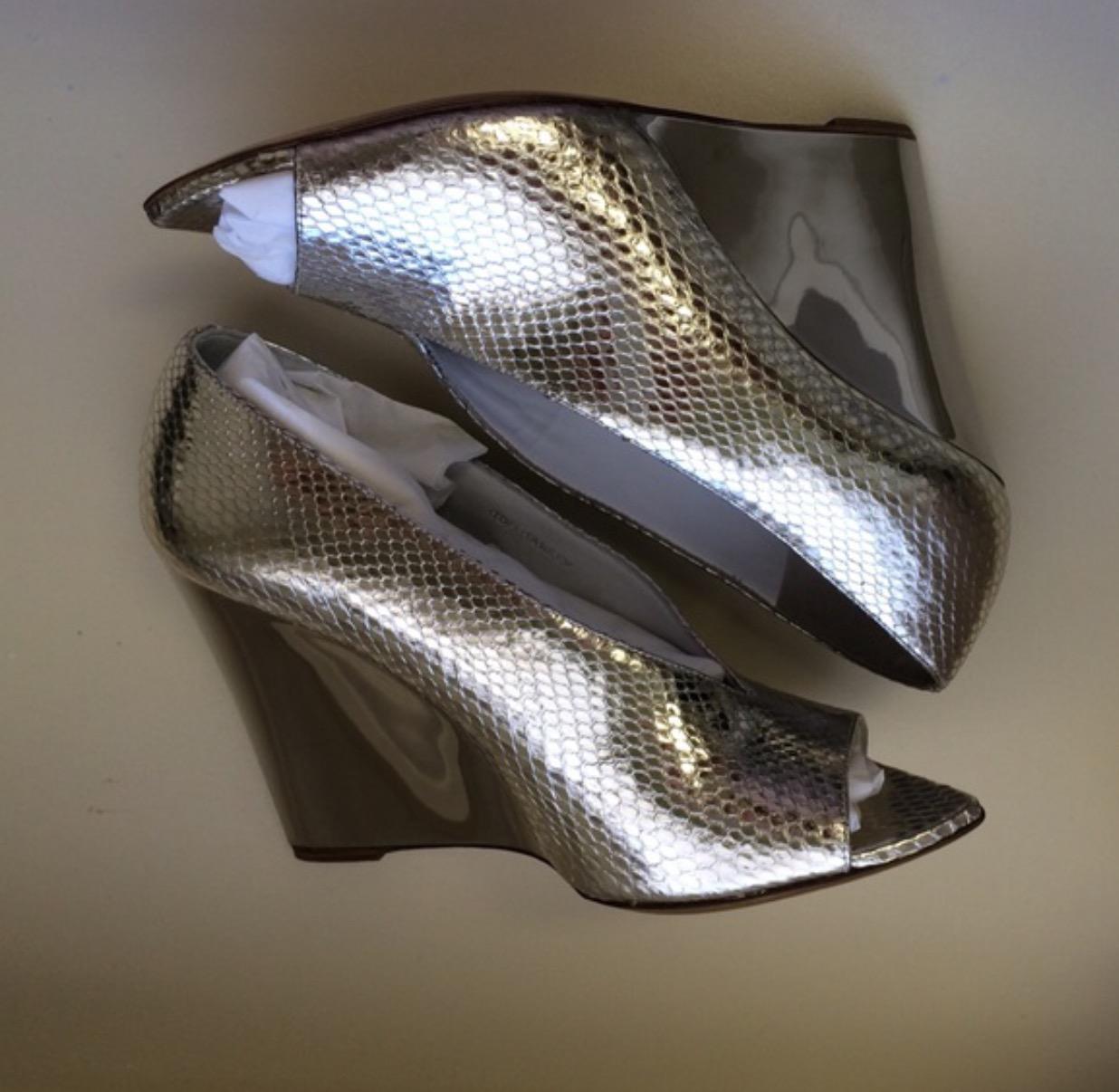 Burberry Prorsum silver wedges