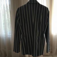 Gorgeous Blue Stripe Thierry Mugler Jacket Angle6